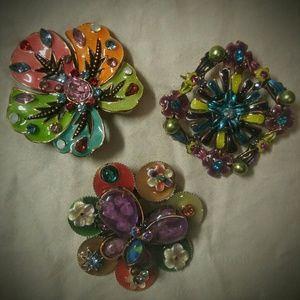 🔴Retro Brooches Set of Three